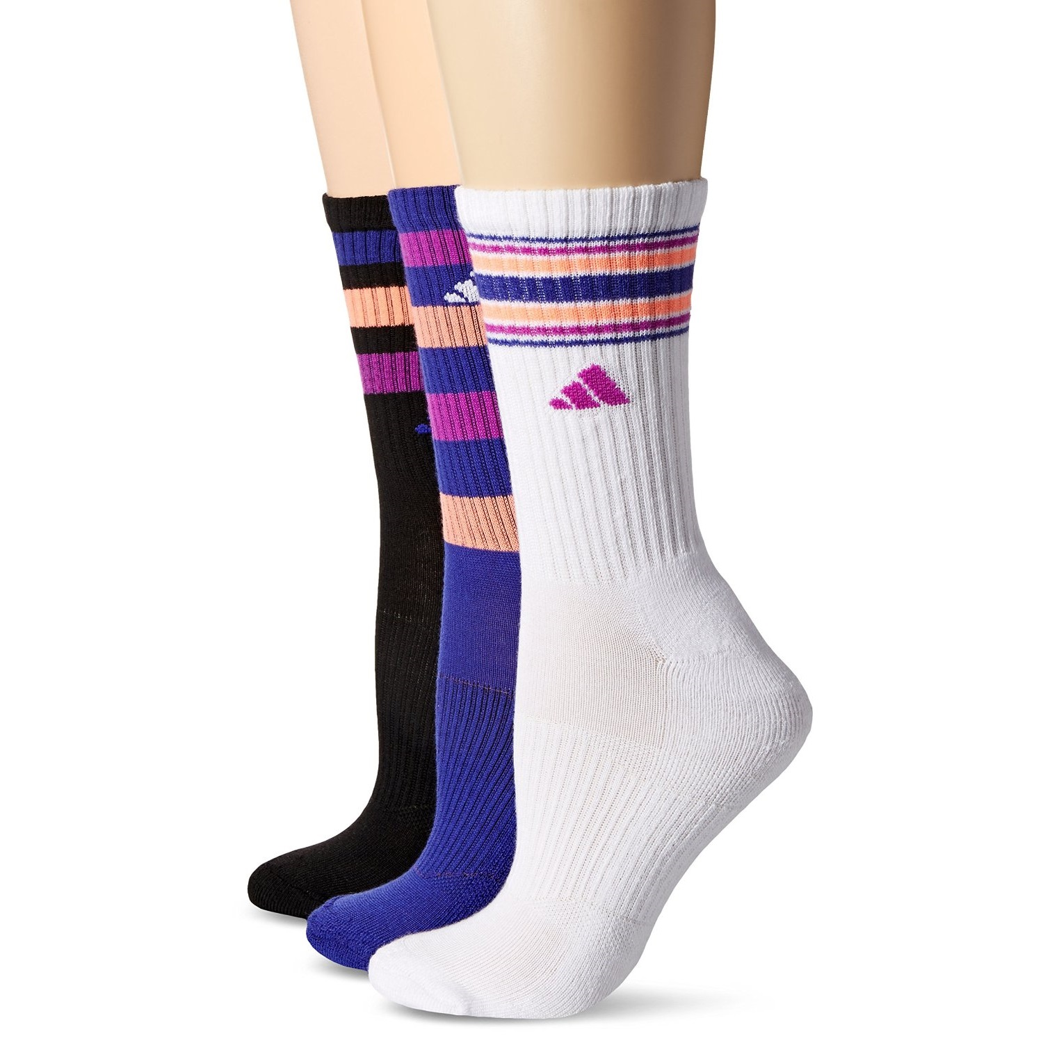 ea0e60e304f1 adidas Women s Cushioned Crew Sock (3 Pack)