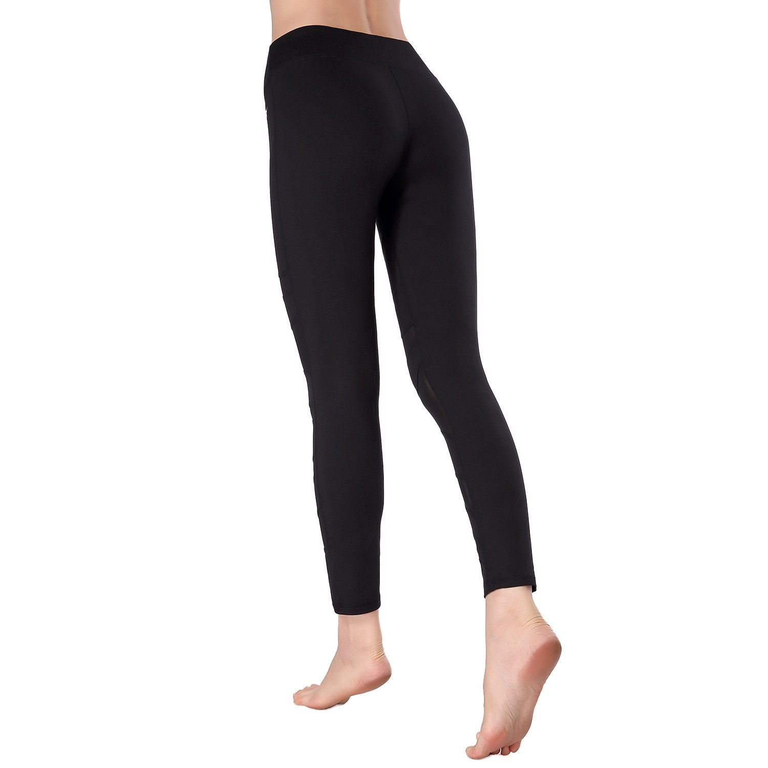 Beepeak Women's Long Mesh Yoga Pants Leggings