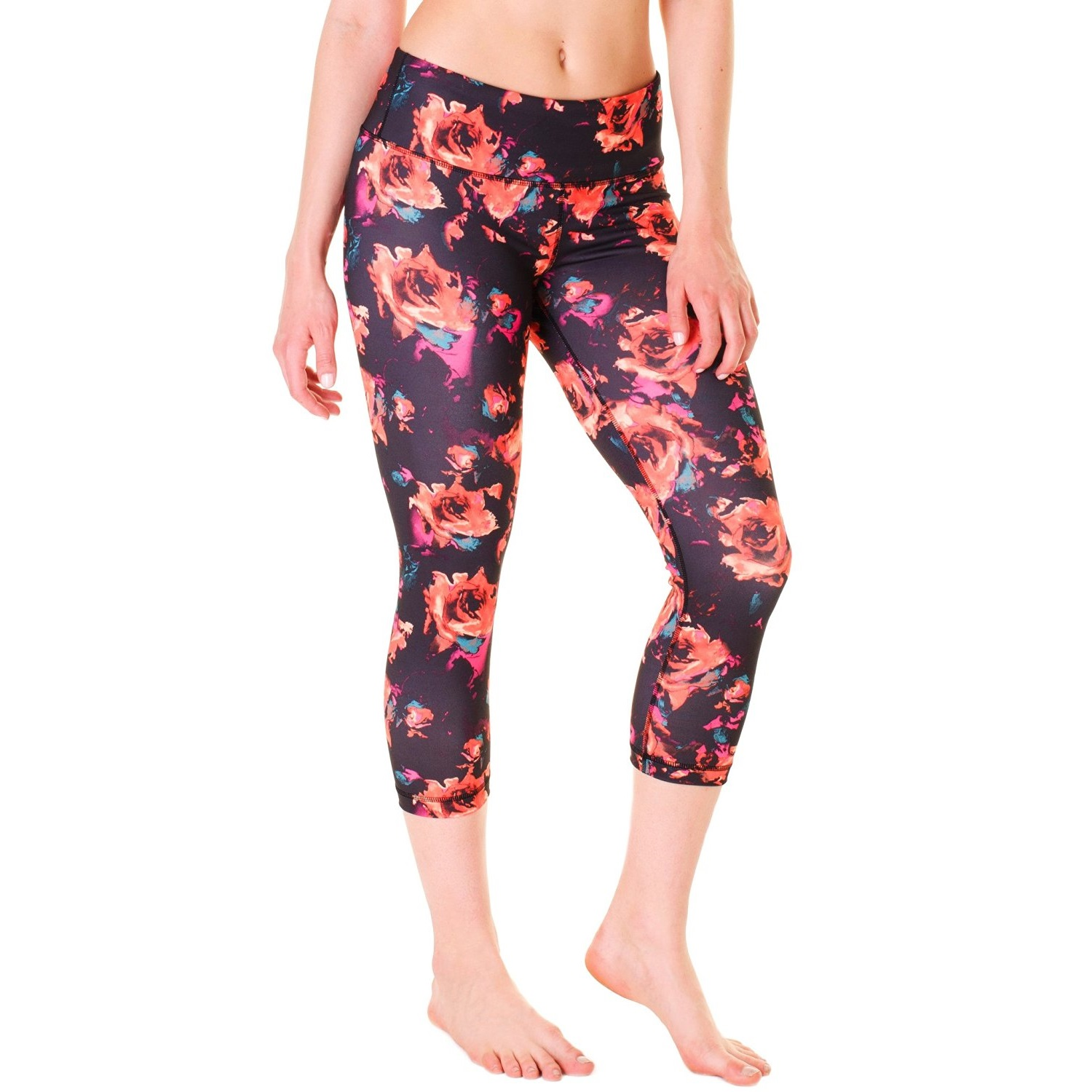 90 Degree by Reflex Women's Printed Yoga Capri Pants