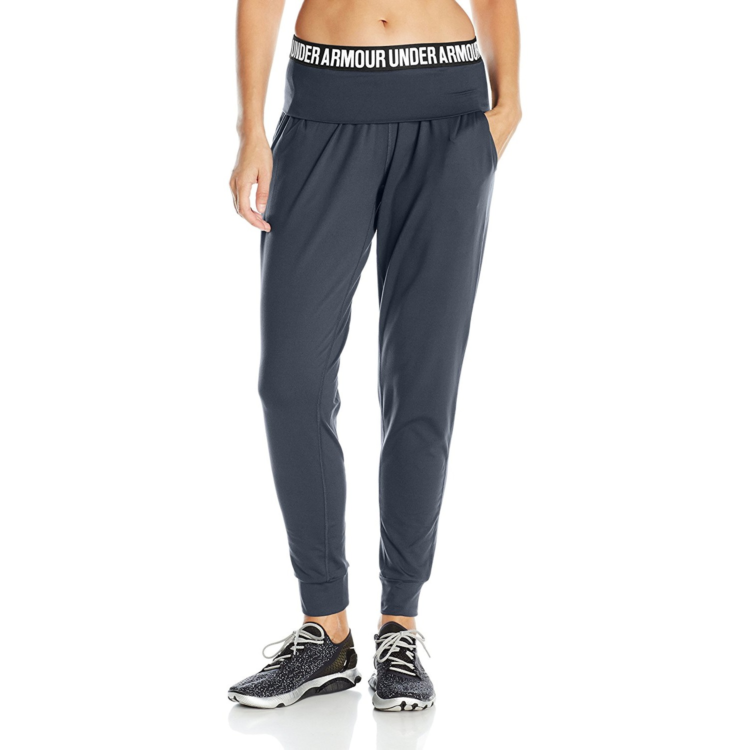baf1764c20 under armour womens downtown knit yoga pant anthracite/tonal