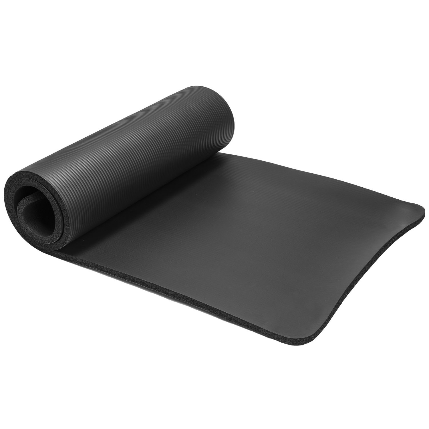 spoga premium 1/2 inch high density yoga mat with carrying strap