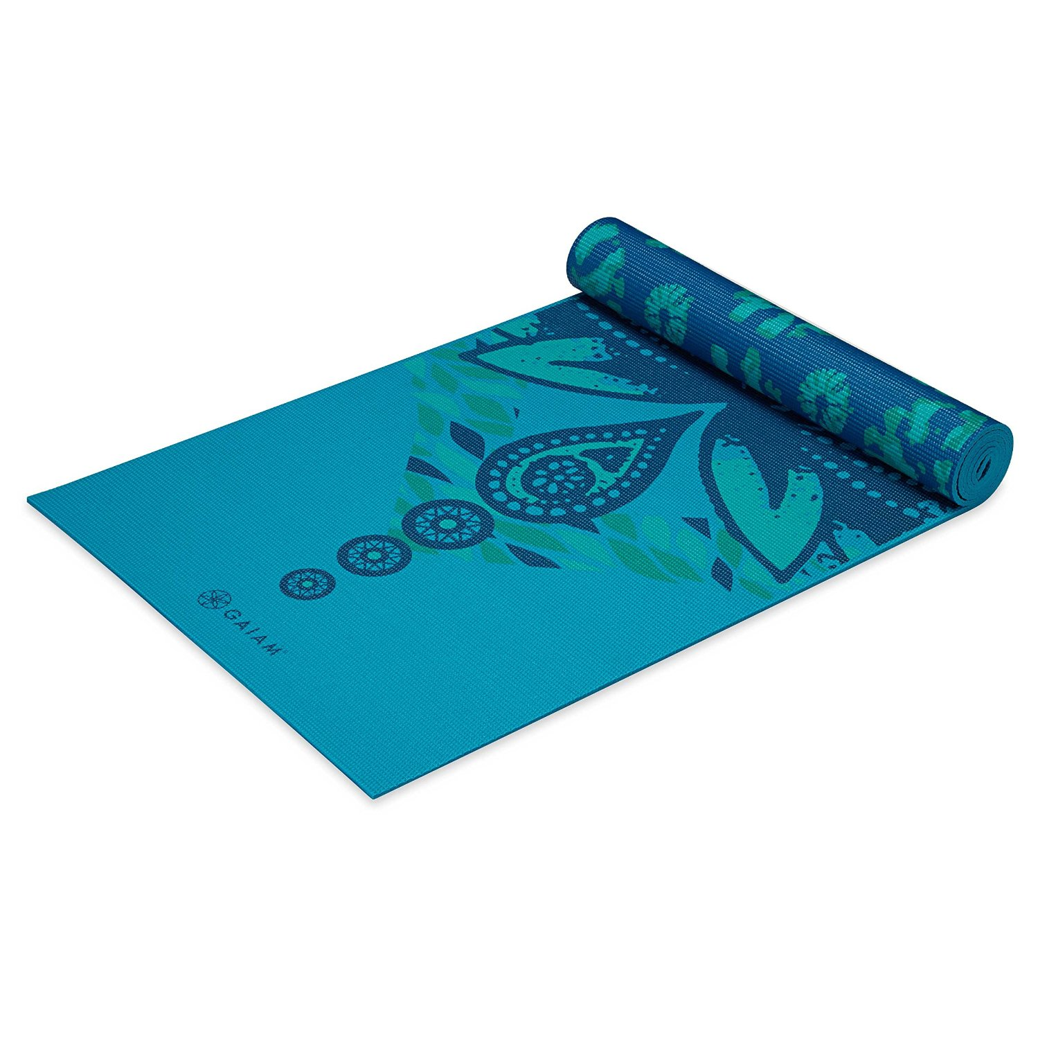 gaiam print premium reversable yoga mats 5mm reflection