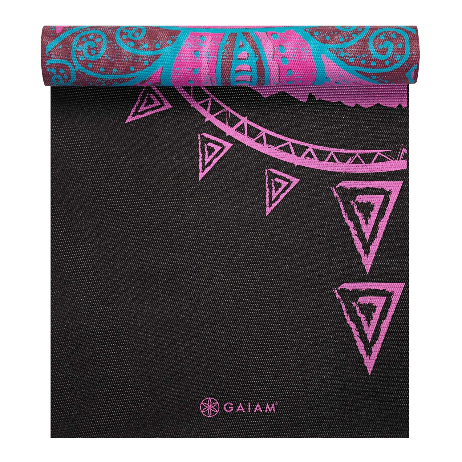 gaiam print premium reversable yoga mats 5mm