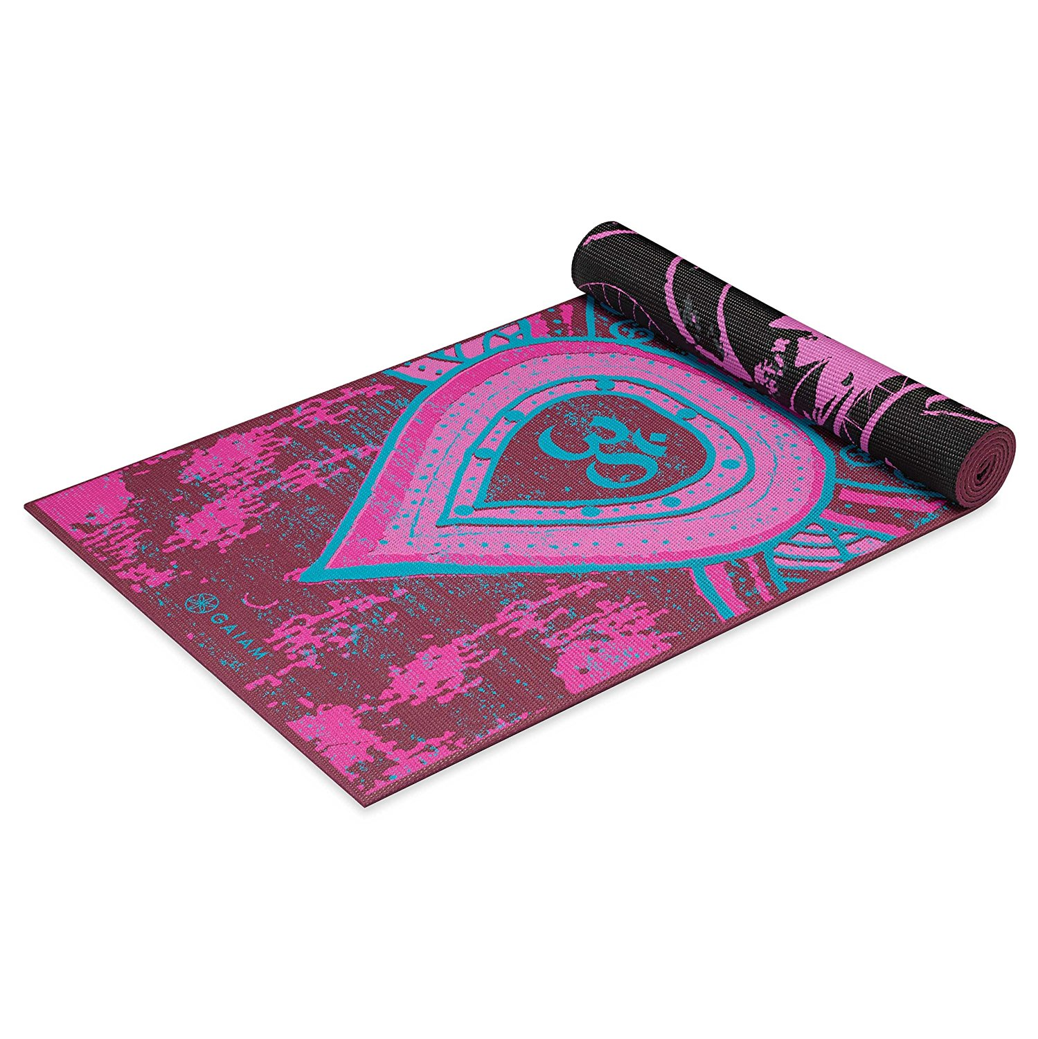 gaiam print premium reversable yoga mats 5mm be free