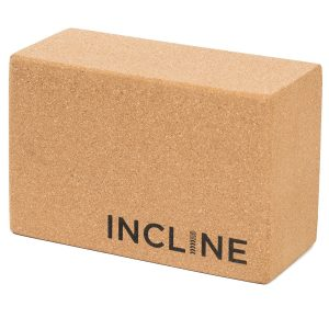 incline fit cork yoga block