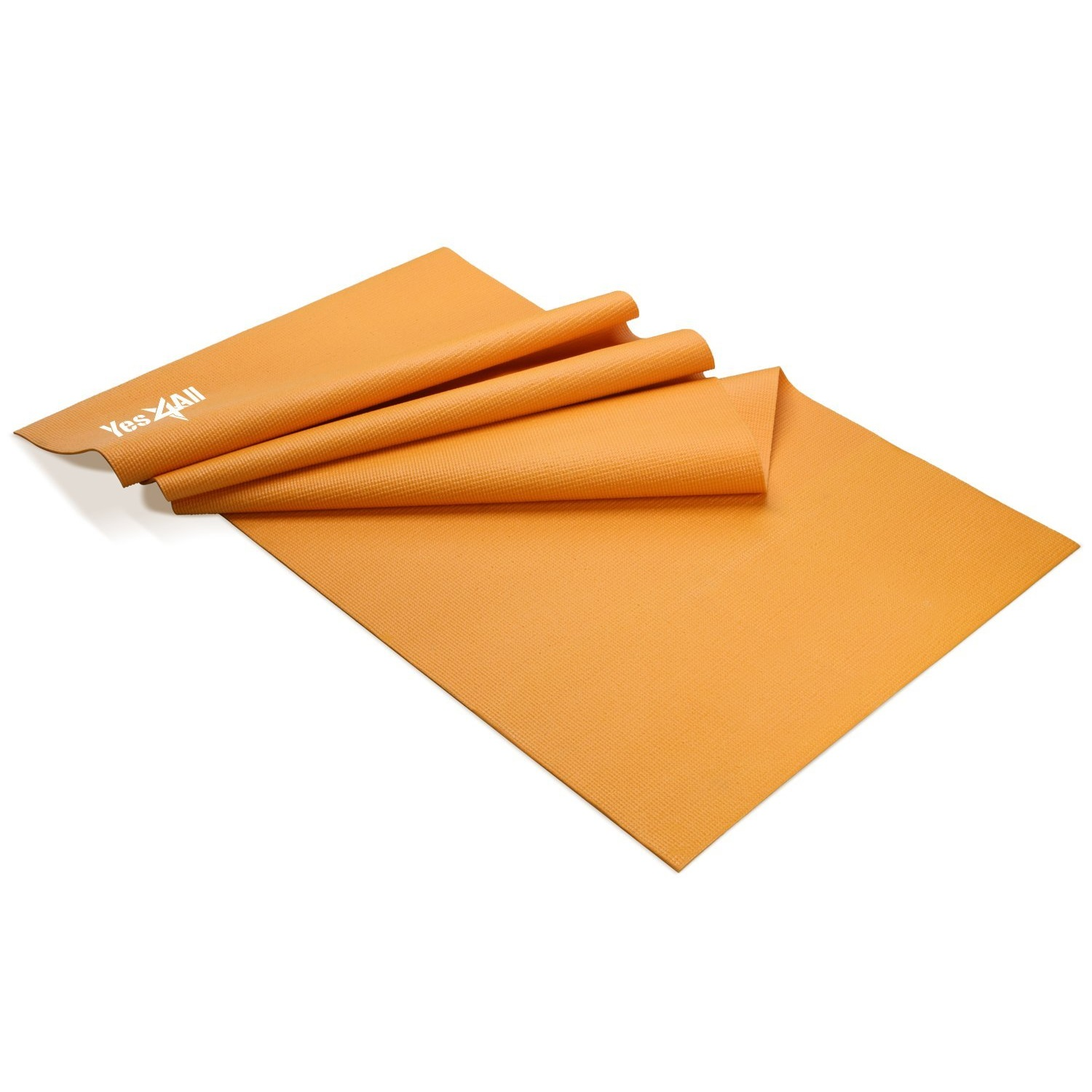 yes4all pvc premium mat exercice de yoga d'orange
