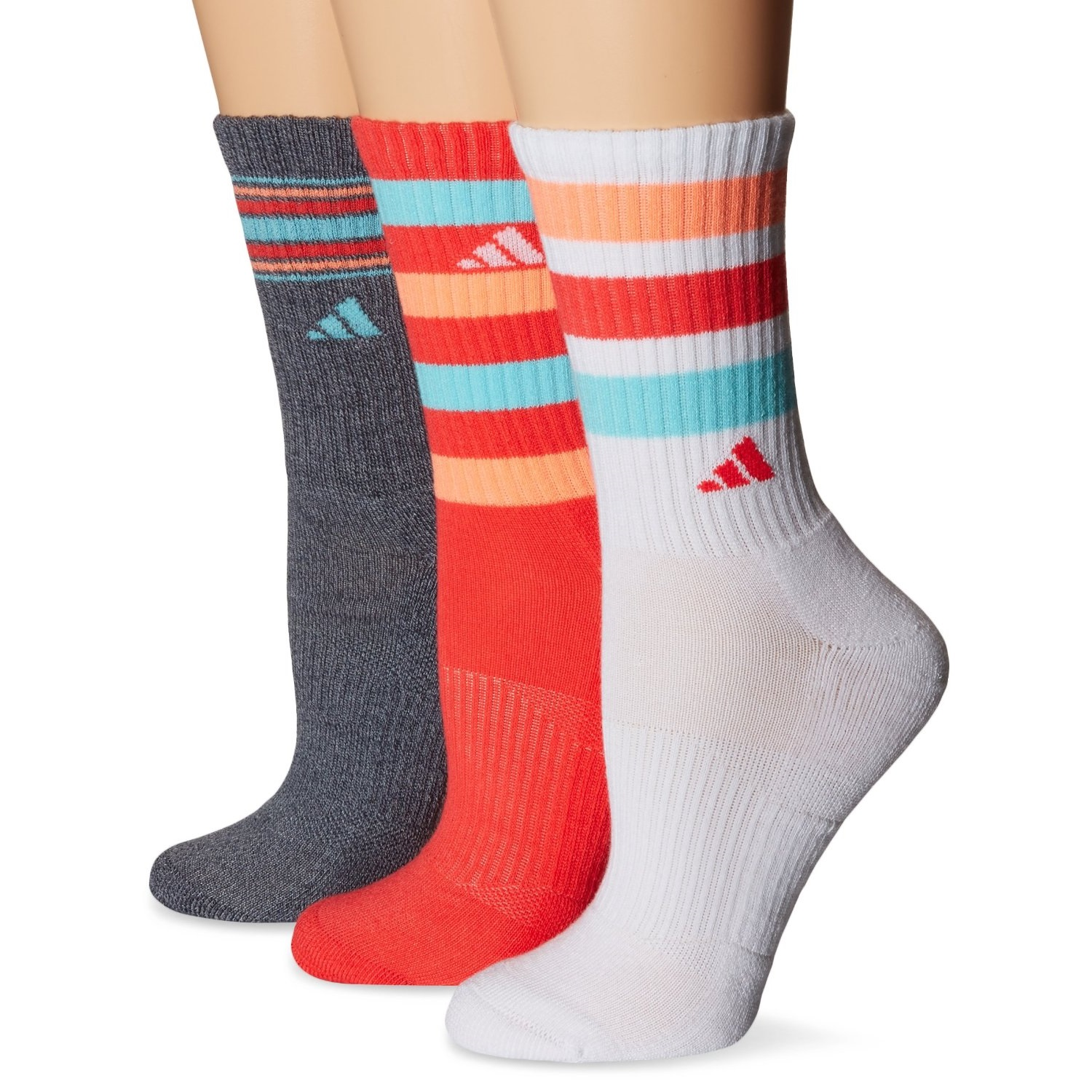 Adidas Cushioned Color Crew Socken 3 Pack Schwarz Onix Marl