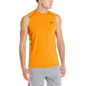 ua mens raid sleeveless yoga t-shirt
