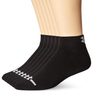 under armour mens charged cotton low-cut socks