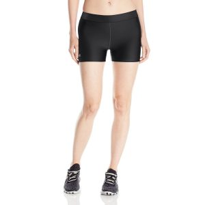 "under armour womens heatgear long 3"" yoga shorts"