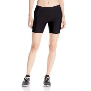 under armour womens heatgear mid yoga shorts