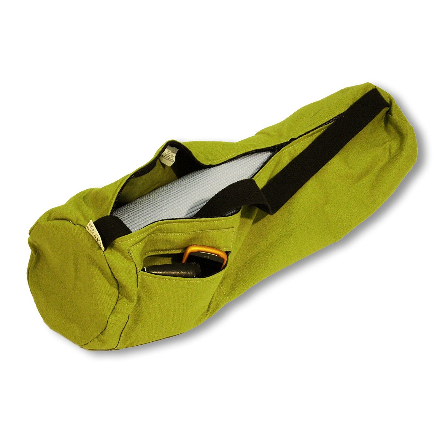 bean products yoga mat bag extra large 100% cotton olive