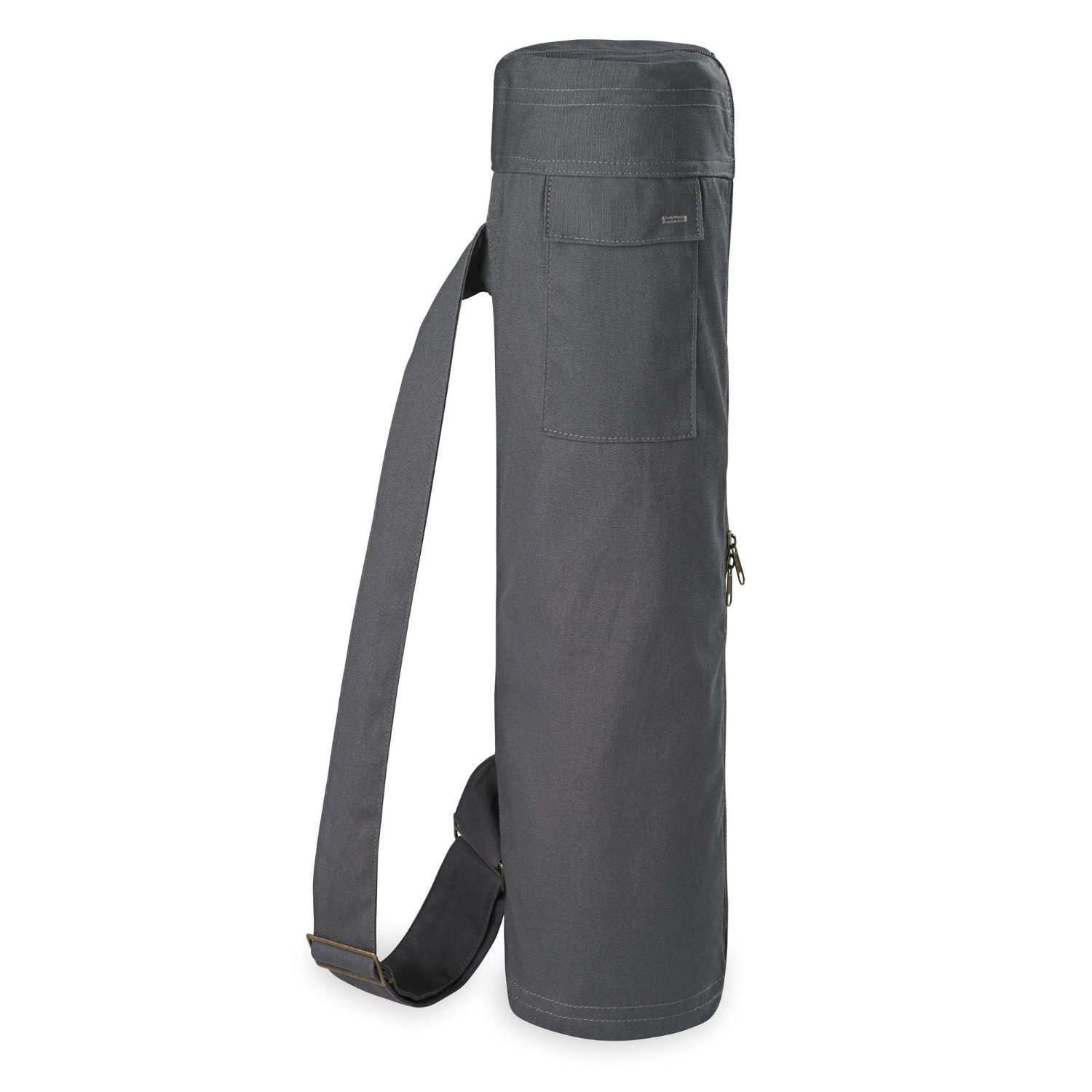 gaiam full-zip cargo pocket yoga mat bag