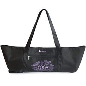 aurorae yoga mat tote bag black