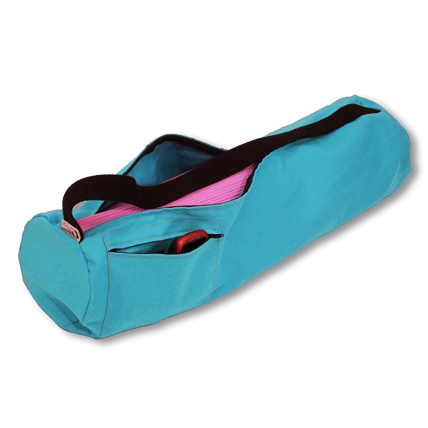 bean products yoga mat bag extra large 100% cotton aqua
