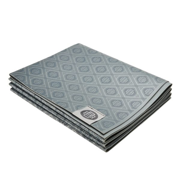 gaiam foldable yoga mat banyan and bo river rock