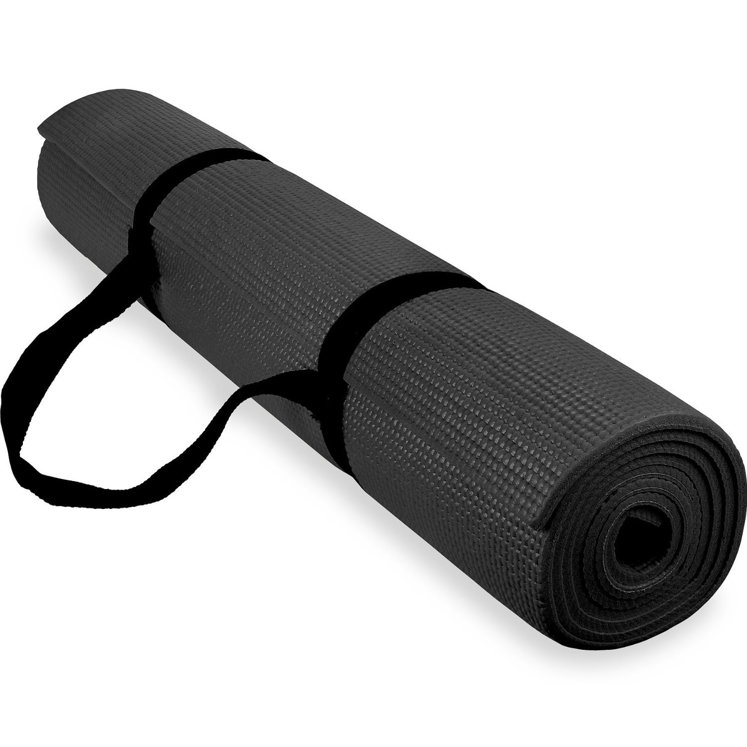 spoga anti-slip exercise yoga mat with carrying strap black