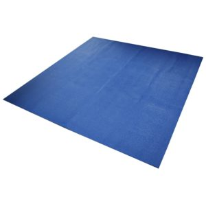 yoga direct 6-feet square yoga mat blue