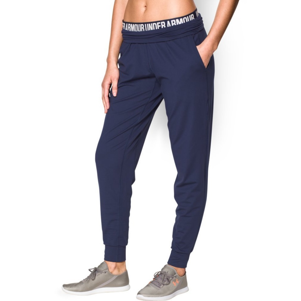 under armour womens downtown knit yoga pant BLUE KNIGHT/Metallic Pewter