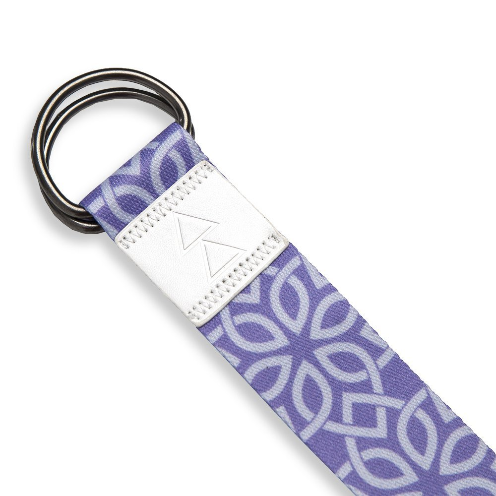 yoga design lab luxery printed extra-long yoga strap