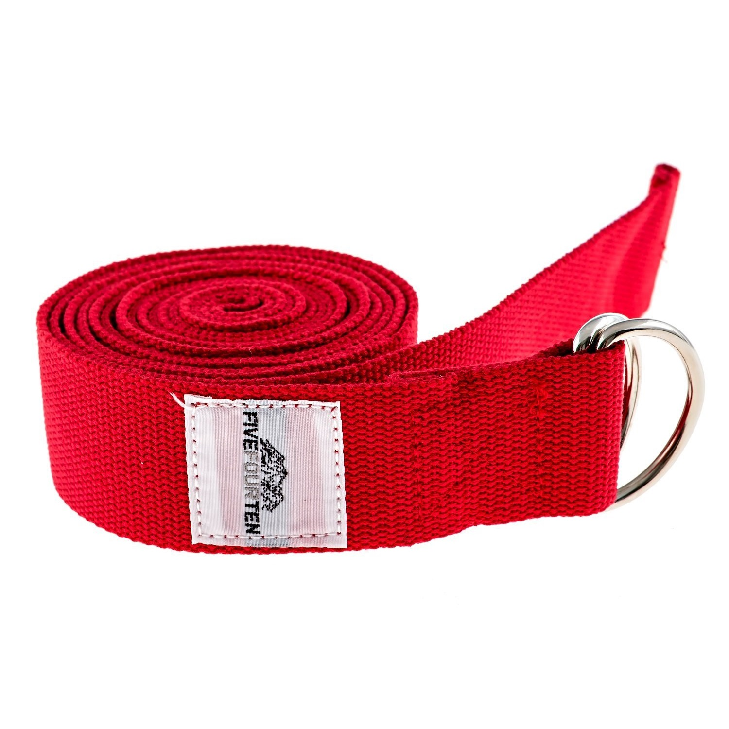 fivefourten thick cotton yoga strap red