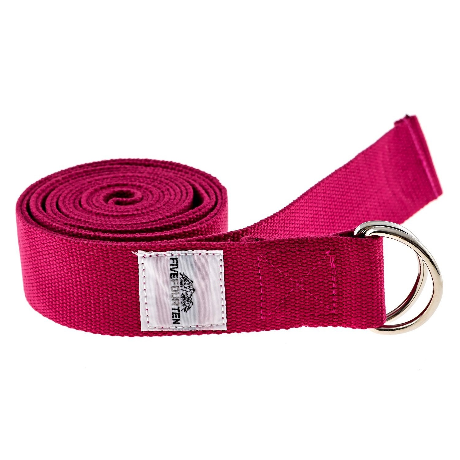 fivefourten thick cotton yoga strap pink