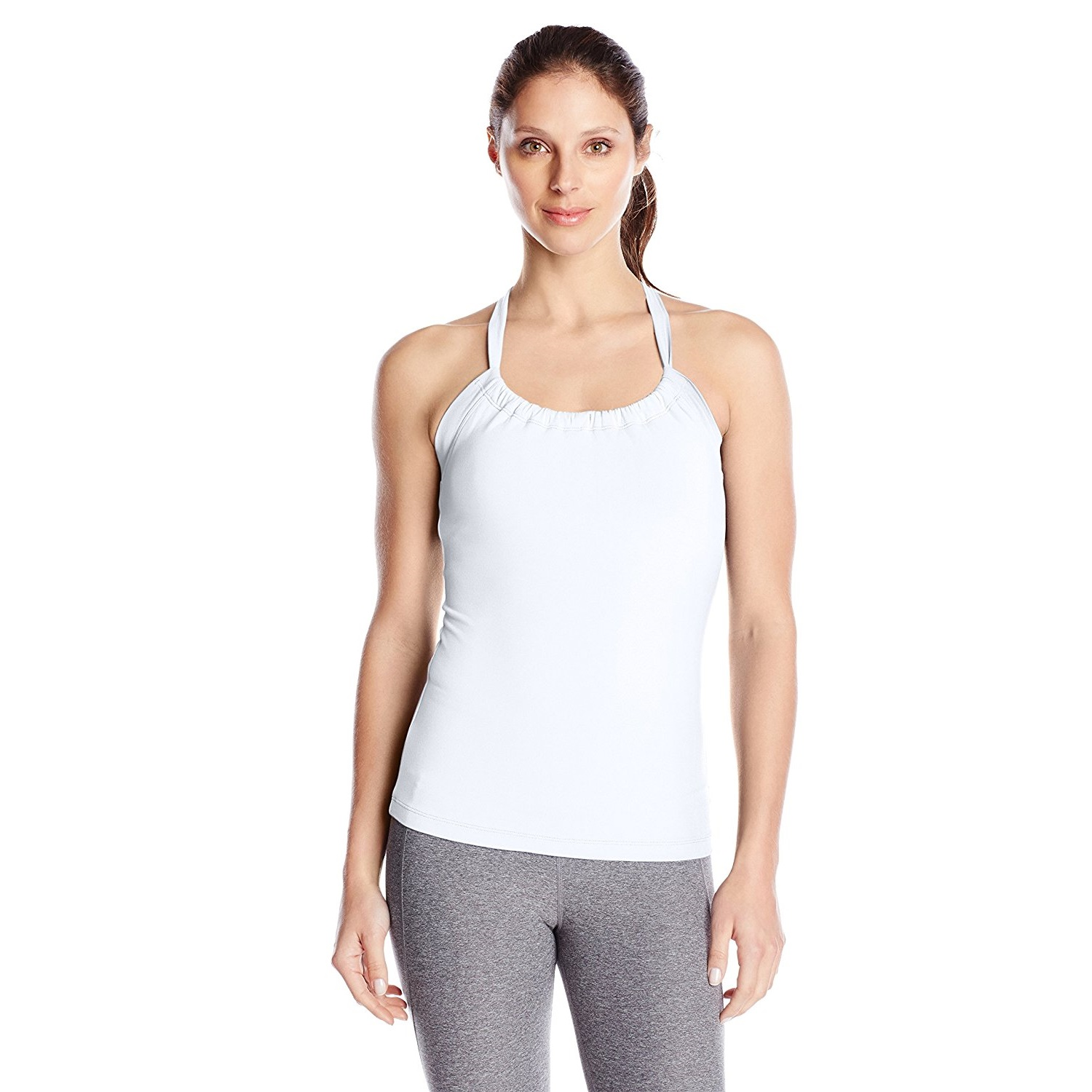 prana womens quinn chakara yoga top shirt white
