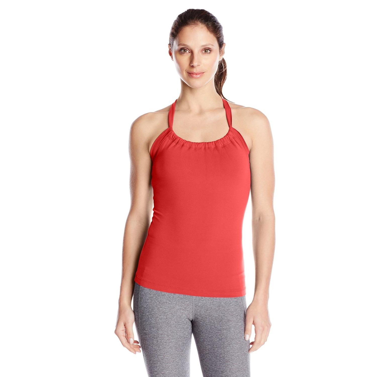 prana womens quinn chakara yoga top shirt sun washed red