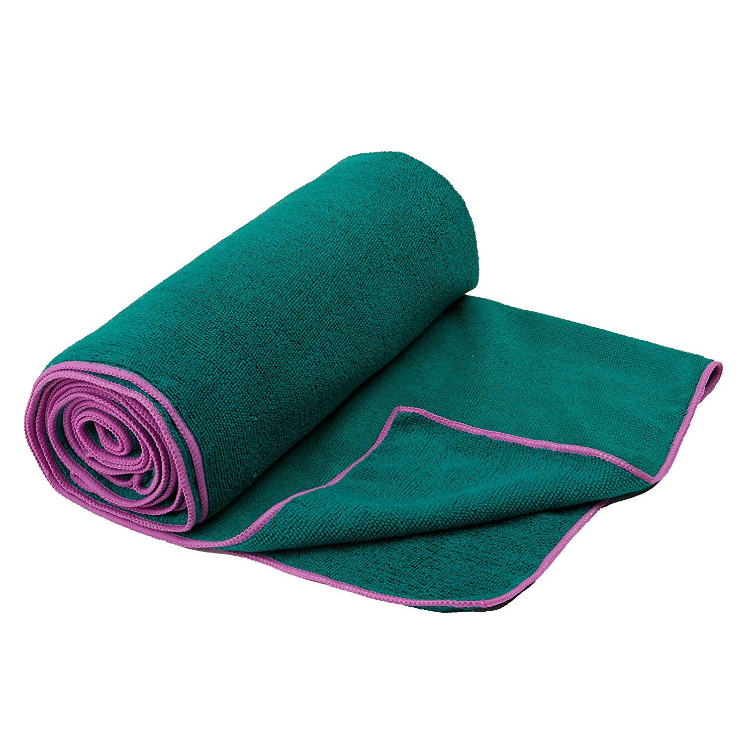 gaiam thirsty yoga towel orchid/turquoise sea