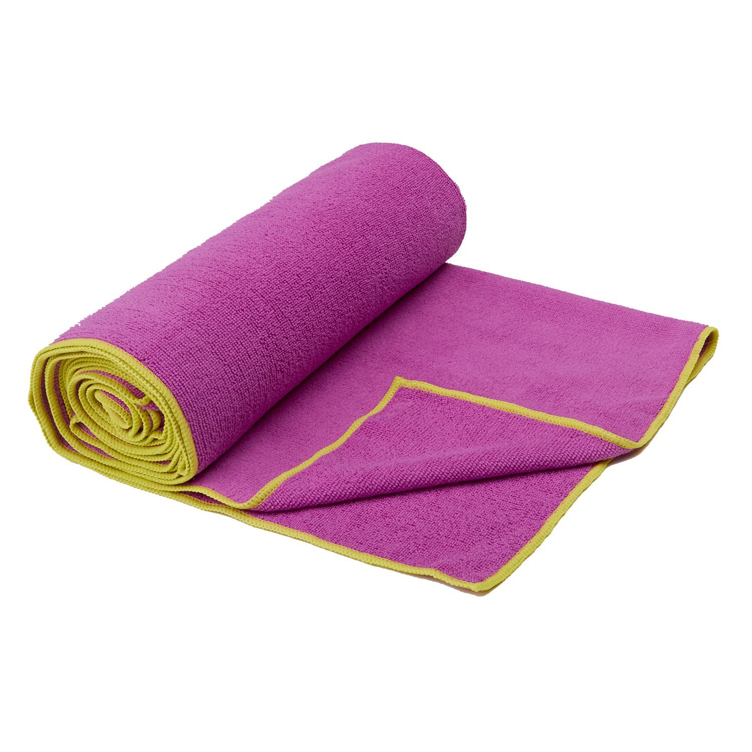 gaiam thirsty yoga towel orchid/citron