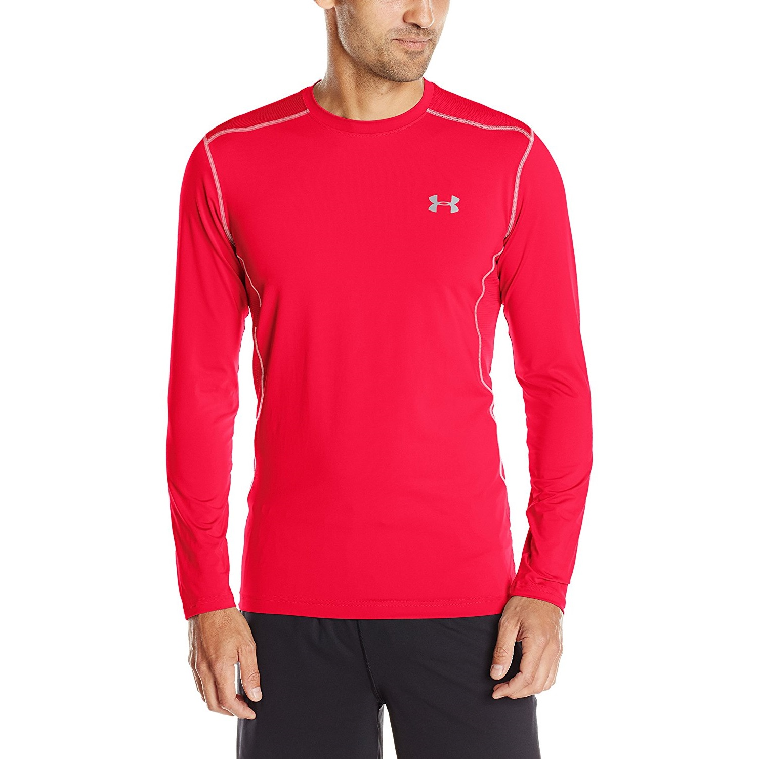 8aa9487ff under armour mens long-sleeve raid yoga t-shirt midnight red/red