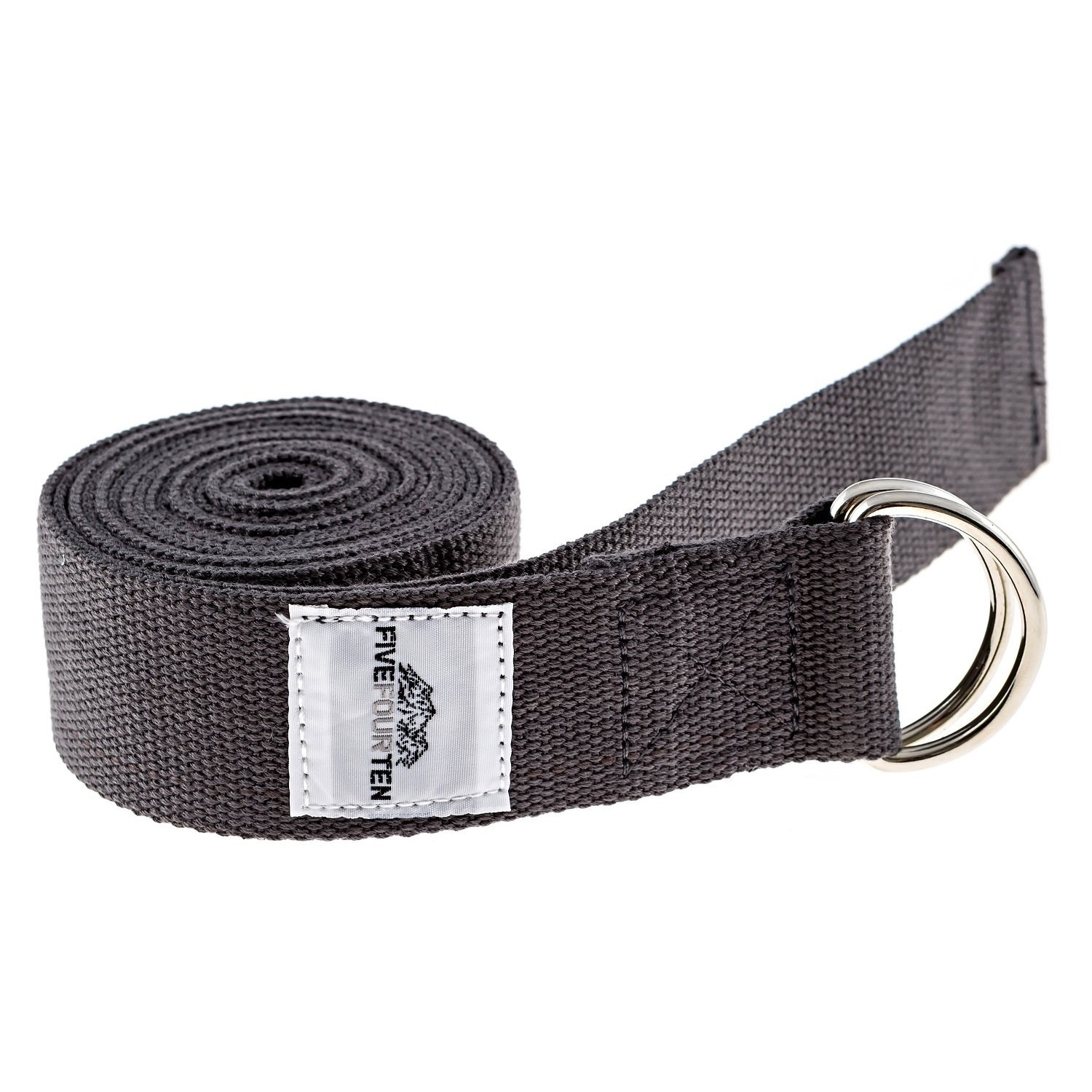 fivefourten thick cotton yoga strap grey