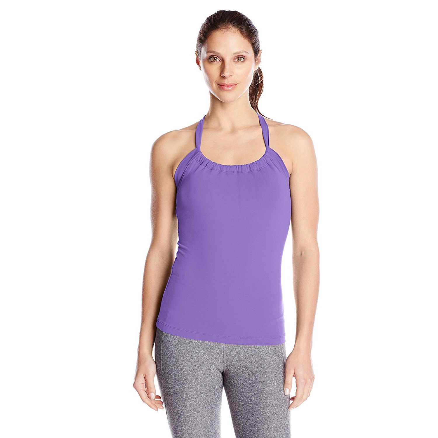 prana womens quinn chakara yoga top shirt ultra violet