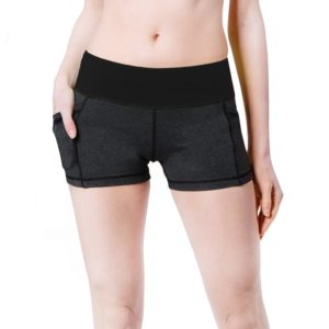 baleaf women's yoga running shorts grey black