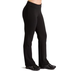 fishers finery womens ecofabric bootleg yoga pant black