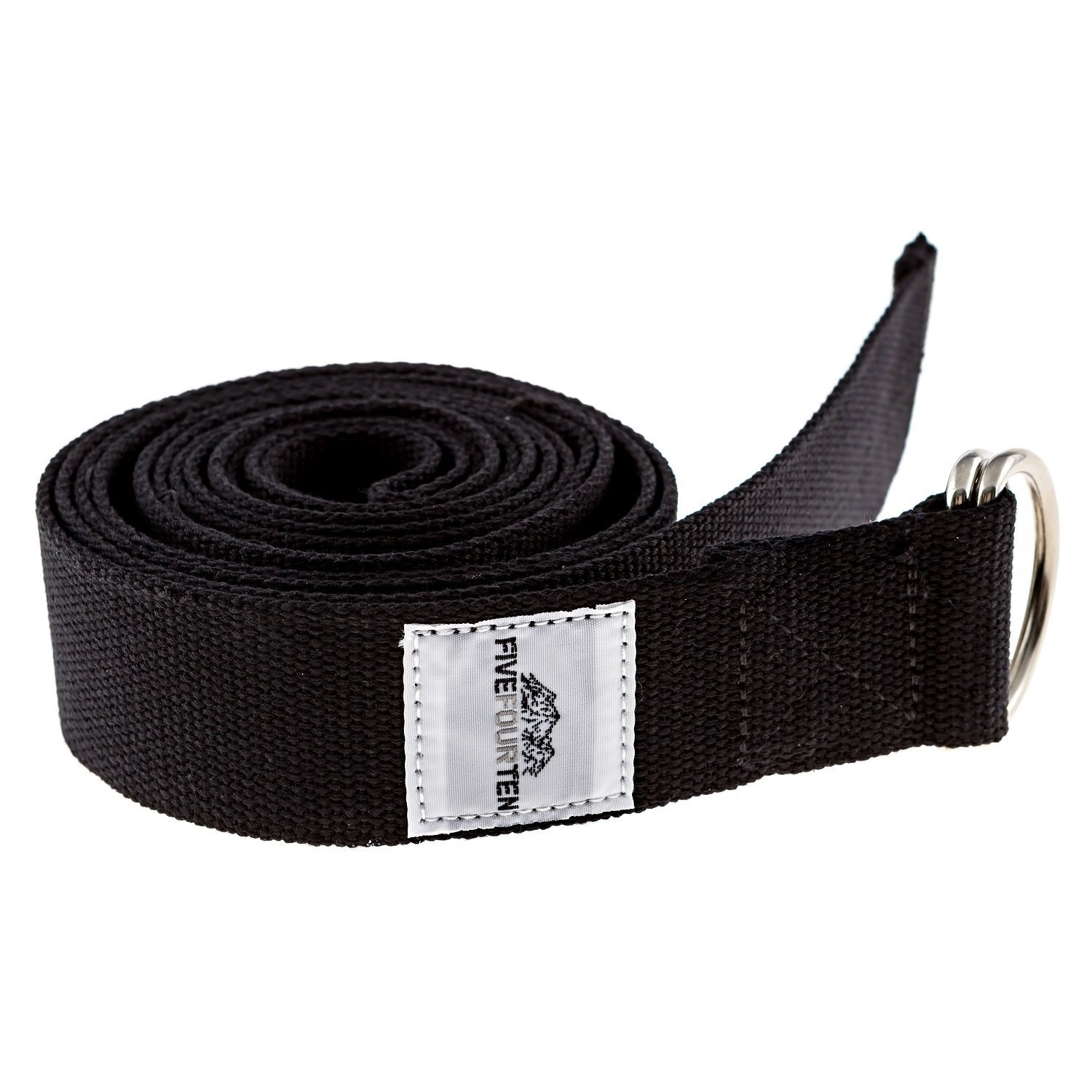 fivefourten thick cotton yoga strap black