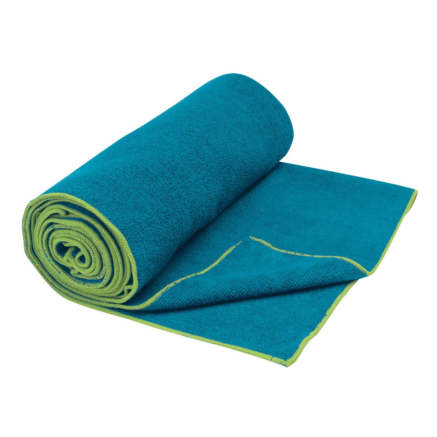 gaiam thirsty yoga towel blue teal