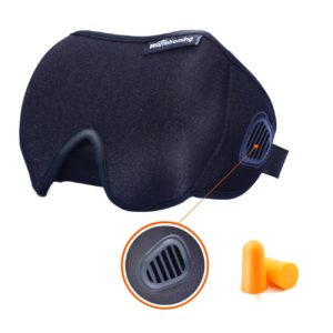 sleep eye mask with bleeder vent black