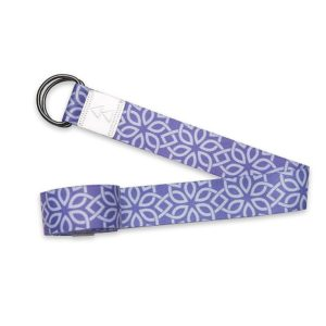 yoga design lab luxery printed extra-long yoga strap floral