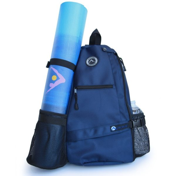 aurorae multi purpose blue yoga mat bag