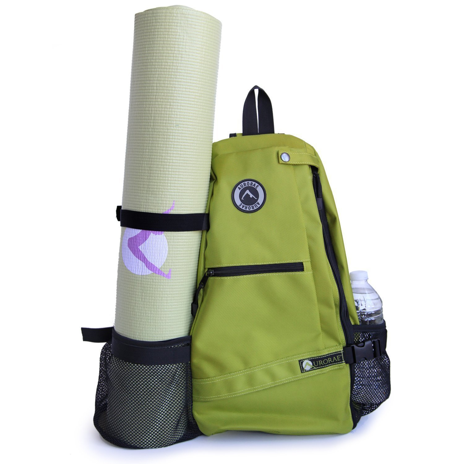 aurorae multi purpose green yoga mat bag