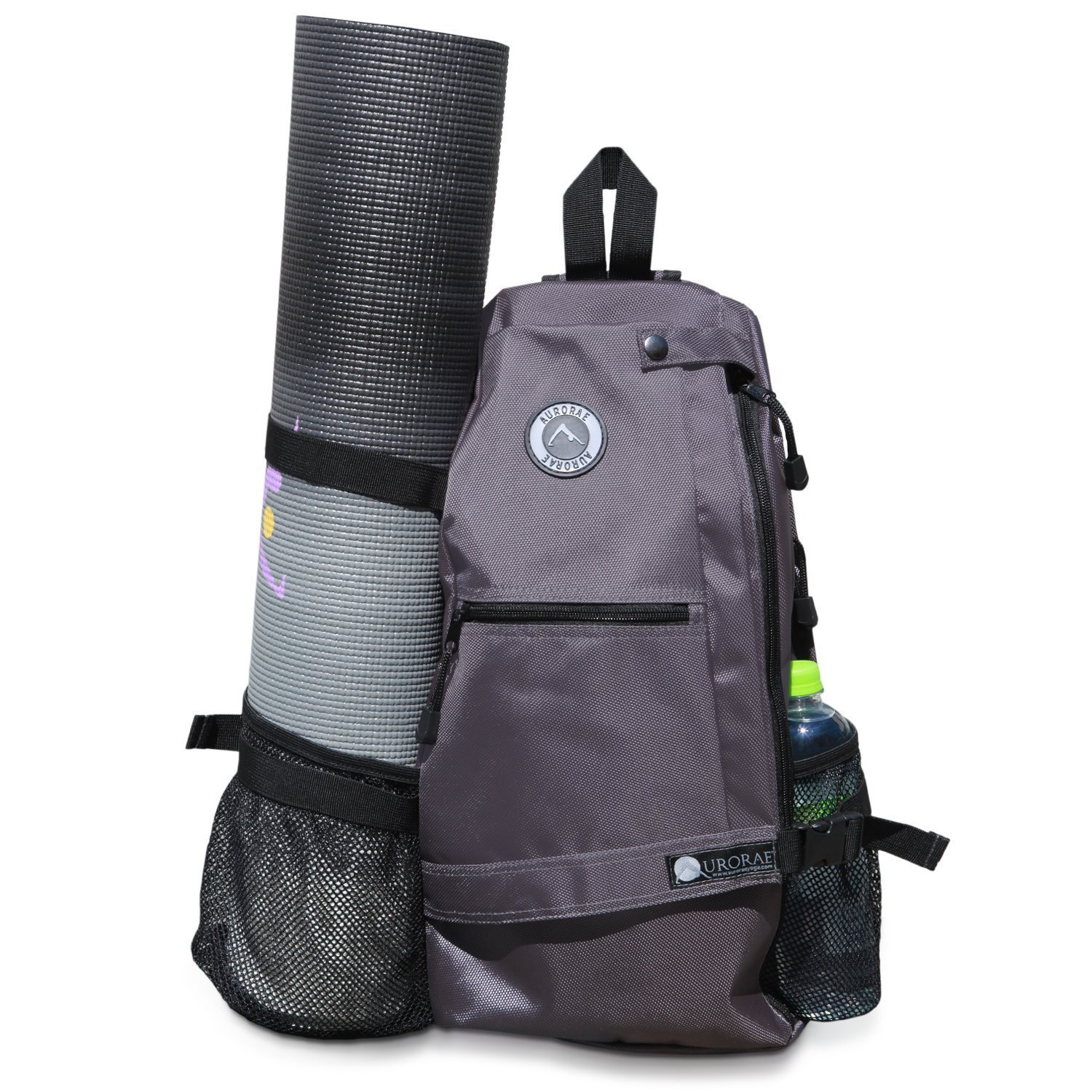 aurorae multi purpose grey yoga mat bag