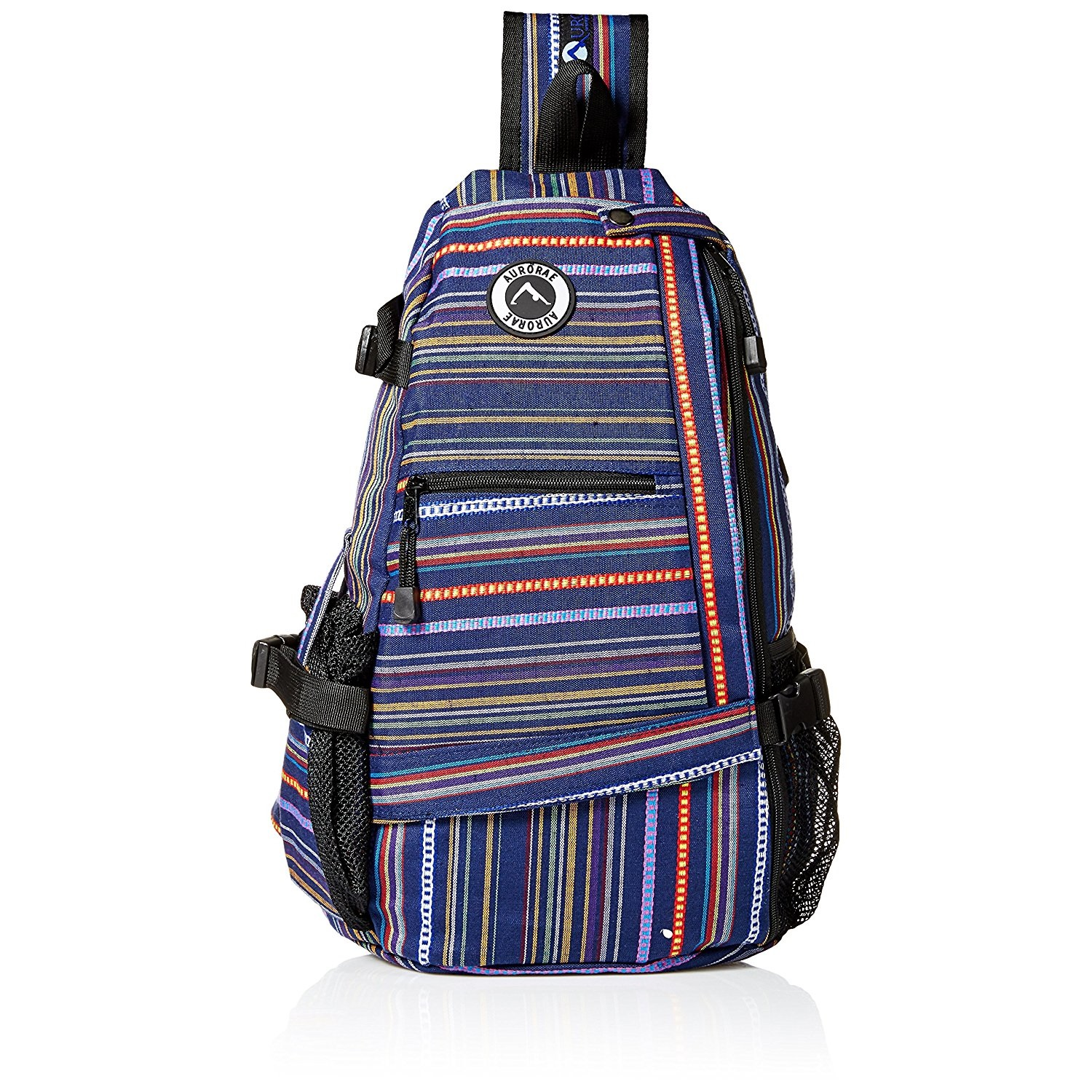 aurorae multi purpose purple stripe yoga mat bag