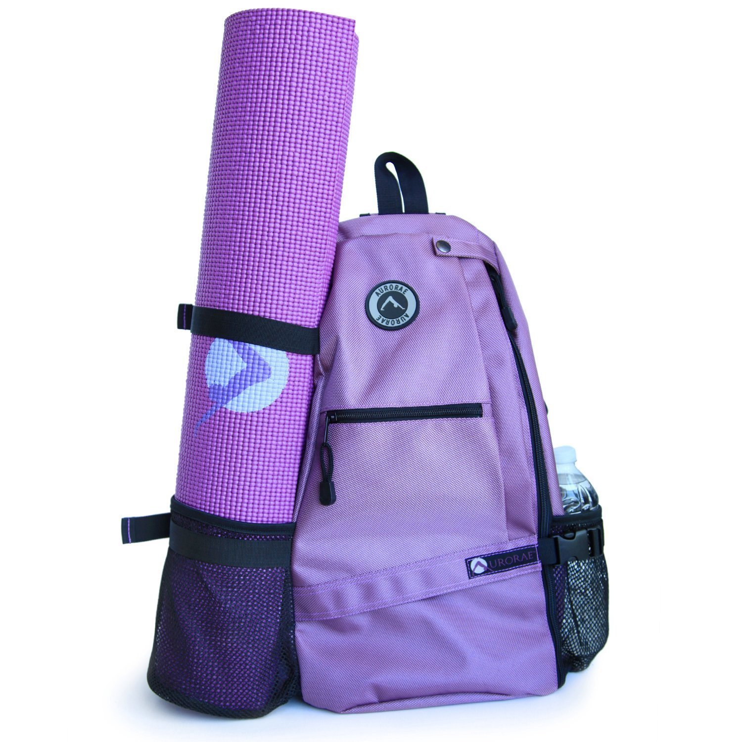 aurorae multi purpose purple yoga mat bag