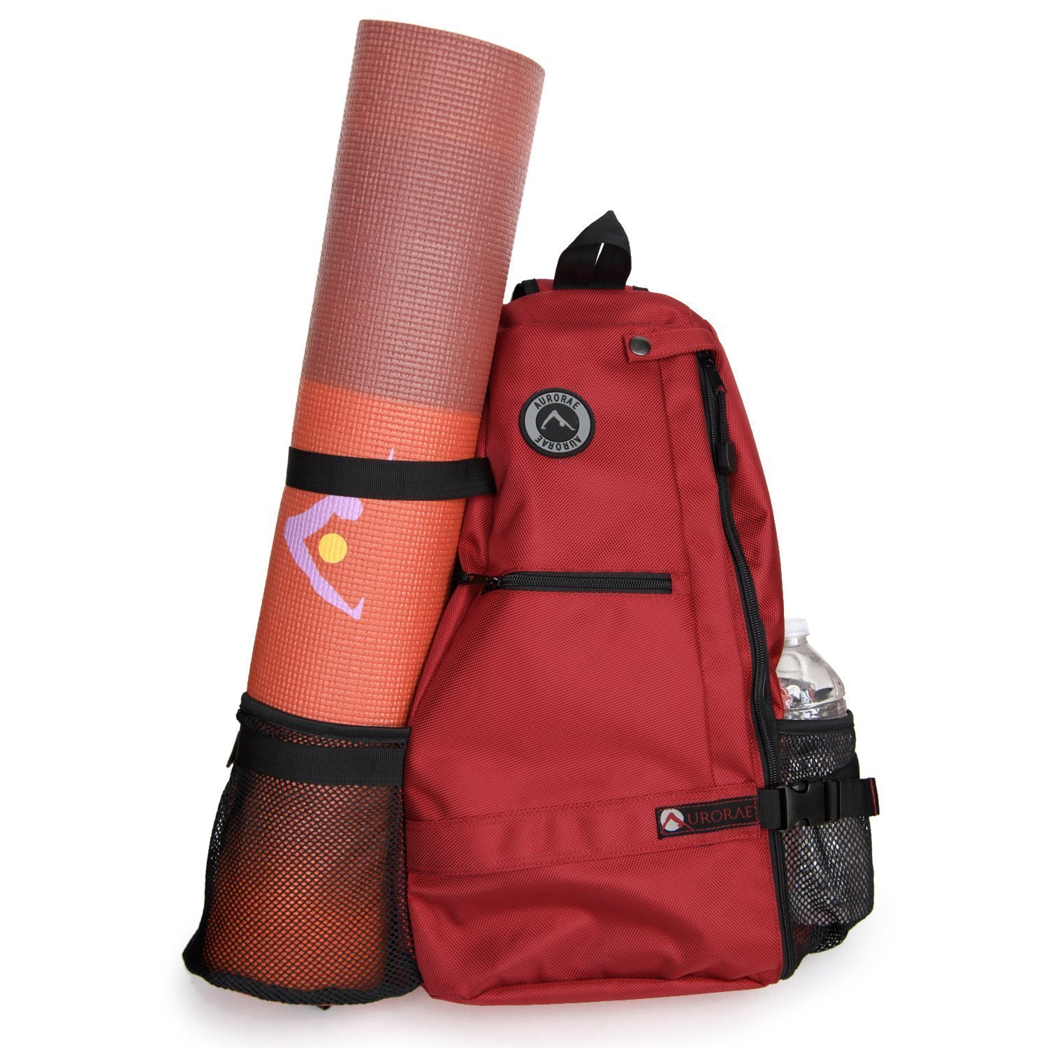 aurorae multi purpose red yoga mat bag
