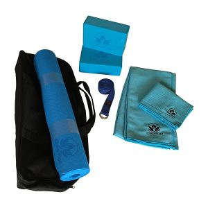 clever yoga 7-piece blue yoga starter set