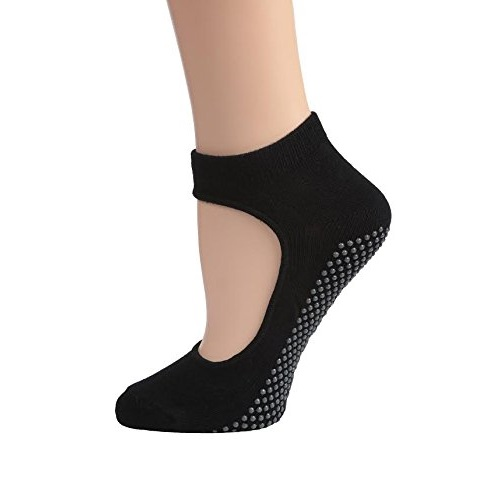 dg sports womens mary jane bella non slip ankle black yoga socks