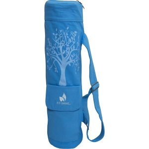 fit spirit tree of life blue yoga mat bag