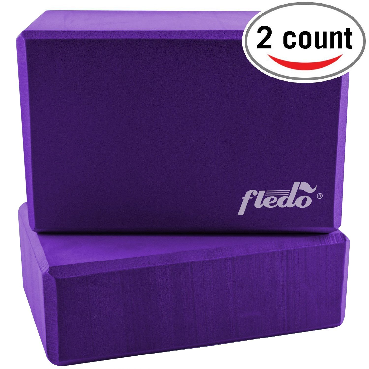 fledo purple eva foam yoga blocks
