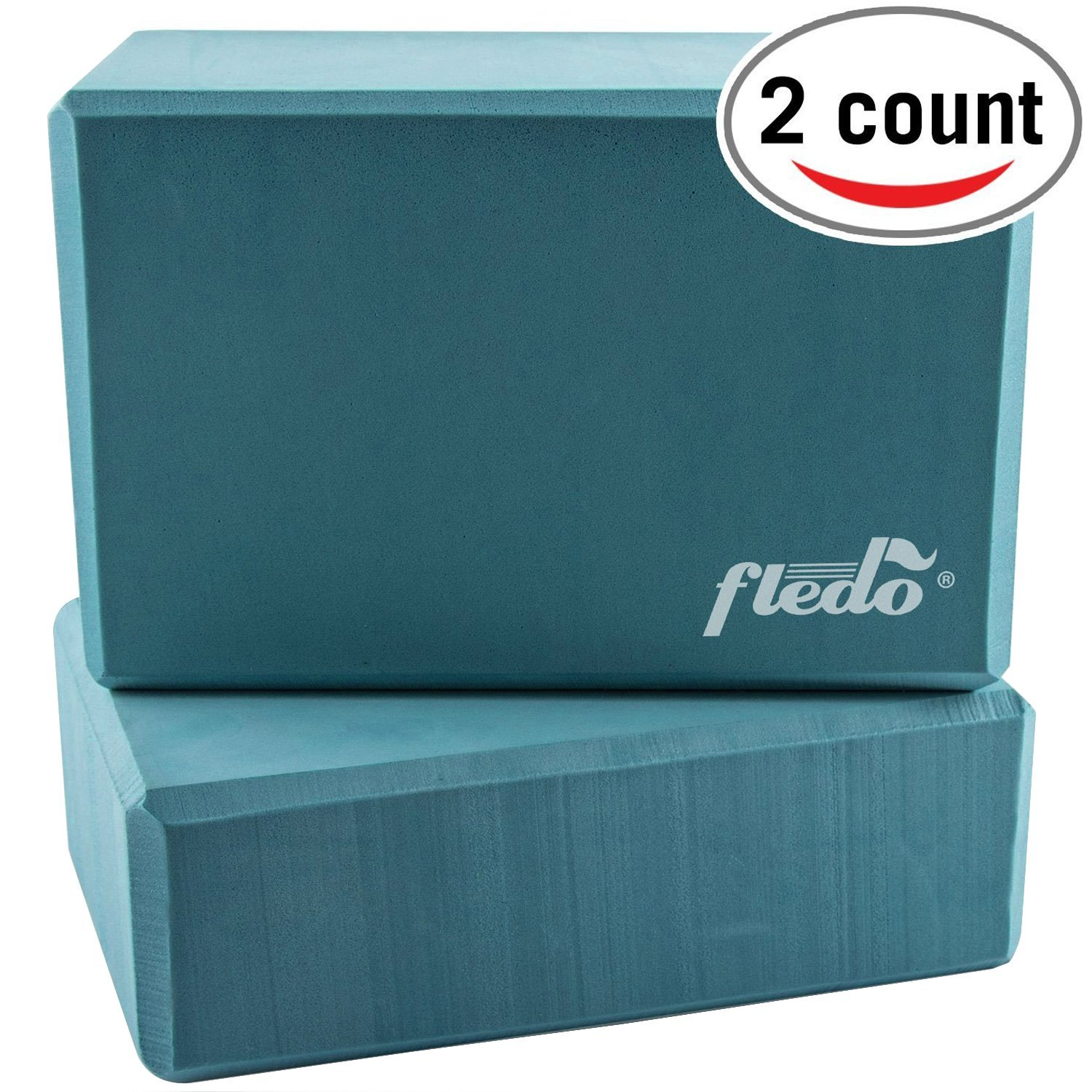 fledo turquoise eva foam yoga blocks